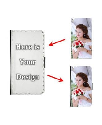 Customized iPhone 7 / 8 Black Wallet Phone Case with Your Own Photos, Texts, Design, etc.