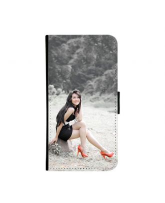 Customized iPhone 6 / 6S Black Wallet Phone Case with Your Own Photos, Texts, Design, etc.
