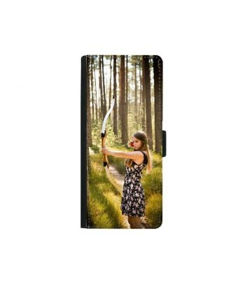 Personalized Samsung Galaxy Note 8 Black Wallet Phone Case with Your Photos, Texts, Design, etc.