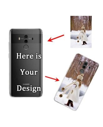Personalized HUAWEI Mate 10 Pro Transparent Soft Phone Case with Your Photos, Texts, Design, etc.
