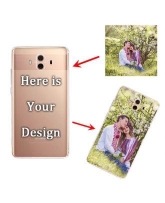 Ốp lưng điện thoại mềm trong suốt HUAWEI Mate 10 với hình ảnh, văn bản, thiết kế, v.v.