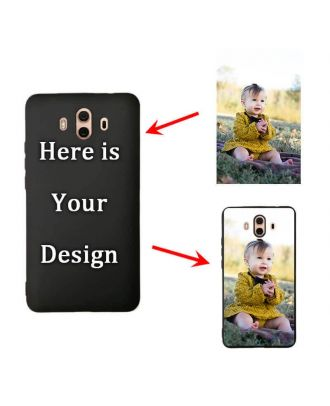 Custom HUAWEI Mate 10 Black Soft Phone Case with Your Own Design, Photos, Texts, etc.