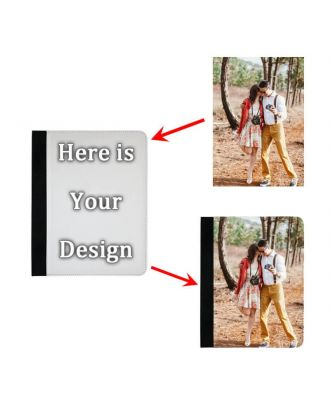 Personalized iPad 2 / 3 / 4 Black Leather Case with Your Own Design, Photos, Texts, etc.