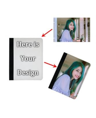 Customized iPad Air 1 / 2 Black Leather Case with Your Own Design, Photos, Texts, etc.