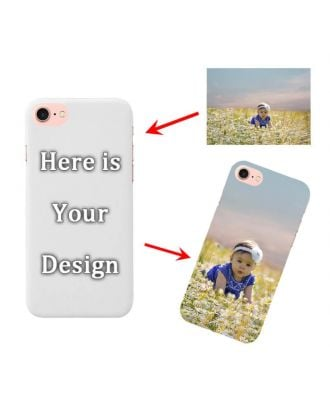 Customized iPhone 7 / 8 White Full Printed Hard Phone Case with Your Own Photos, Texts, Design, etc.