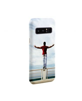 Customized Samsung Galaxy Note 8 White  Full Printed Hard Phone Case with Your Own Design, Photos, Texts, etc.