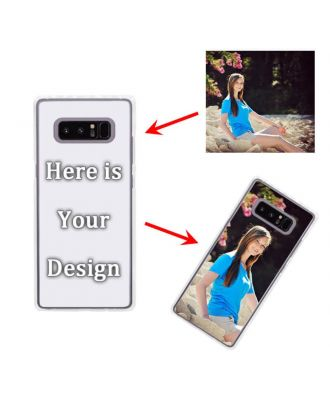 Custom Samsung Galaxy Note 8 Transparent Hard Phone Case with Your Own Design, Photos, Texts, etc.