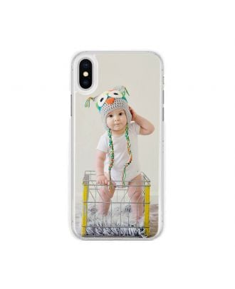 Customized iPhone X Transparent Hard Phone Case with Your Own Design, Photos, Texts, etc.