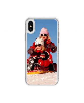 Custom iPhone X Semi-transparent Soft Frame and Hard Back Phone Case with Your Own Photos, Texts, Design, etc.