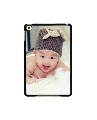 Custom iPad Mini 4 White / Black Hard Case with Your Photos, Texts, Design, etc.