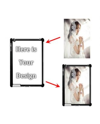 Custom Made iPad 2 / 3 / 4 White / Black Hard Case with Your Own Design, Photos, Texts, etc.
