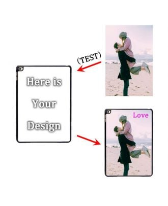 Custom Made iPad Air 2 White / Black Hard Case with Your Own Design, Photos, Texts, etc.