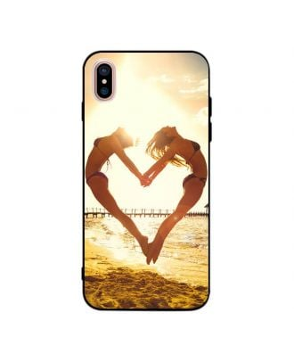 Custom Made iPhone X Black Soft Phone Case with Your Own Photos, Texts, Design, etc.