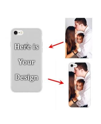 Custom Matte Soft Case for iPhone 7 or iPhone 8 | Semi-transparent