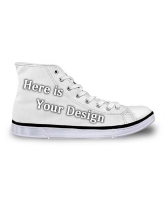 Custom made Men's and Women's High-Top Canvas Sneakers
