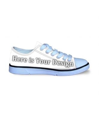 Customize Shoes Online | Kids' Low-Top Canvas Sneakers
