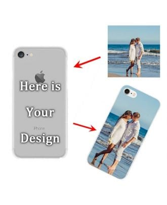 Personalized Hard Case  for iPhone 7 or iPhone 8 | Transparent