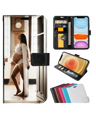 Skreddersydd GIONEE K6 Leather Flip Wallet Phone Case with Your Own Design, Photos, Texts, etc.
