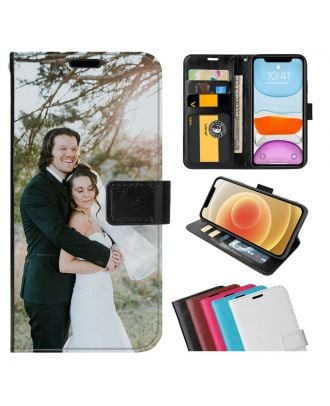 Custom LG K20 (2019) Leather Flip Wallet Phone Case with Your Own Photos, Texts, Design, etc.