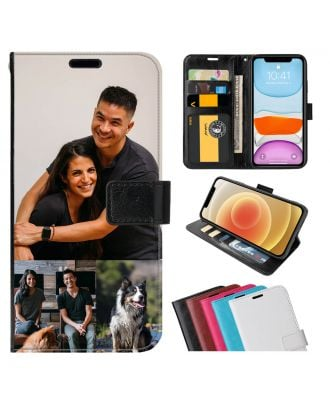 Custom OPPO A11 Leather Flip Wallet Phone Case with Your Own Photos, Texts, Design, etc.