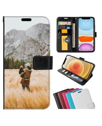 Personlig HUAWEI P40 Pro+ Leather Flip Wallet Phone Case with Your Own Design, Photos, Texts, etc.