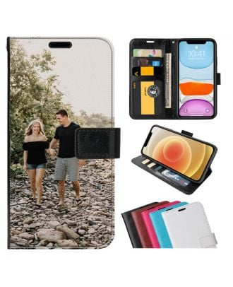 Personlig ZTE Axon 10 Pro 5G Leather Flip Wallet Phone Case with Your Own Photos, Texts, Design, etc.