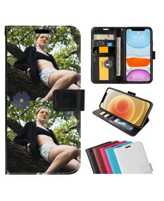 Custom Made ZTE Axon 11 4G Leather Flip Wallet Phone Case with Your Photos, Texts, Design, etc.